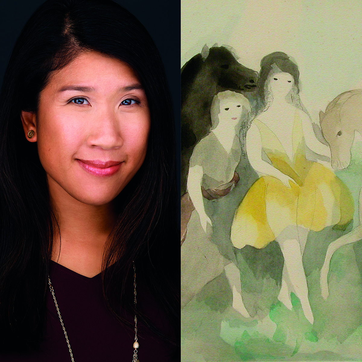 Sarah Chan with Laurencin artwork