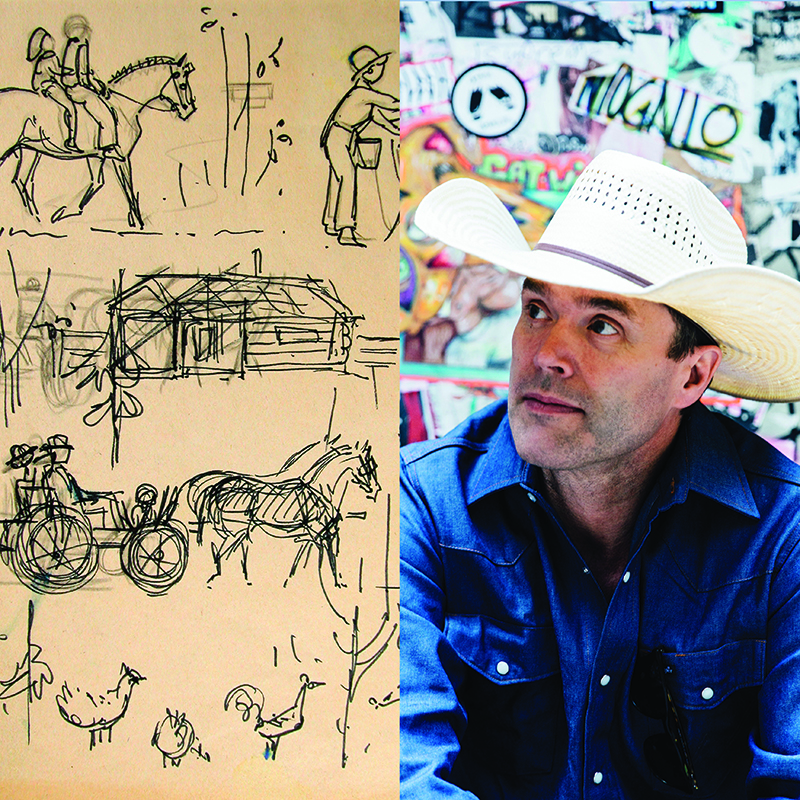 Corb Lund with McNaught artwork