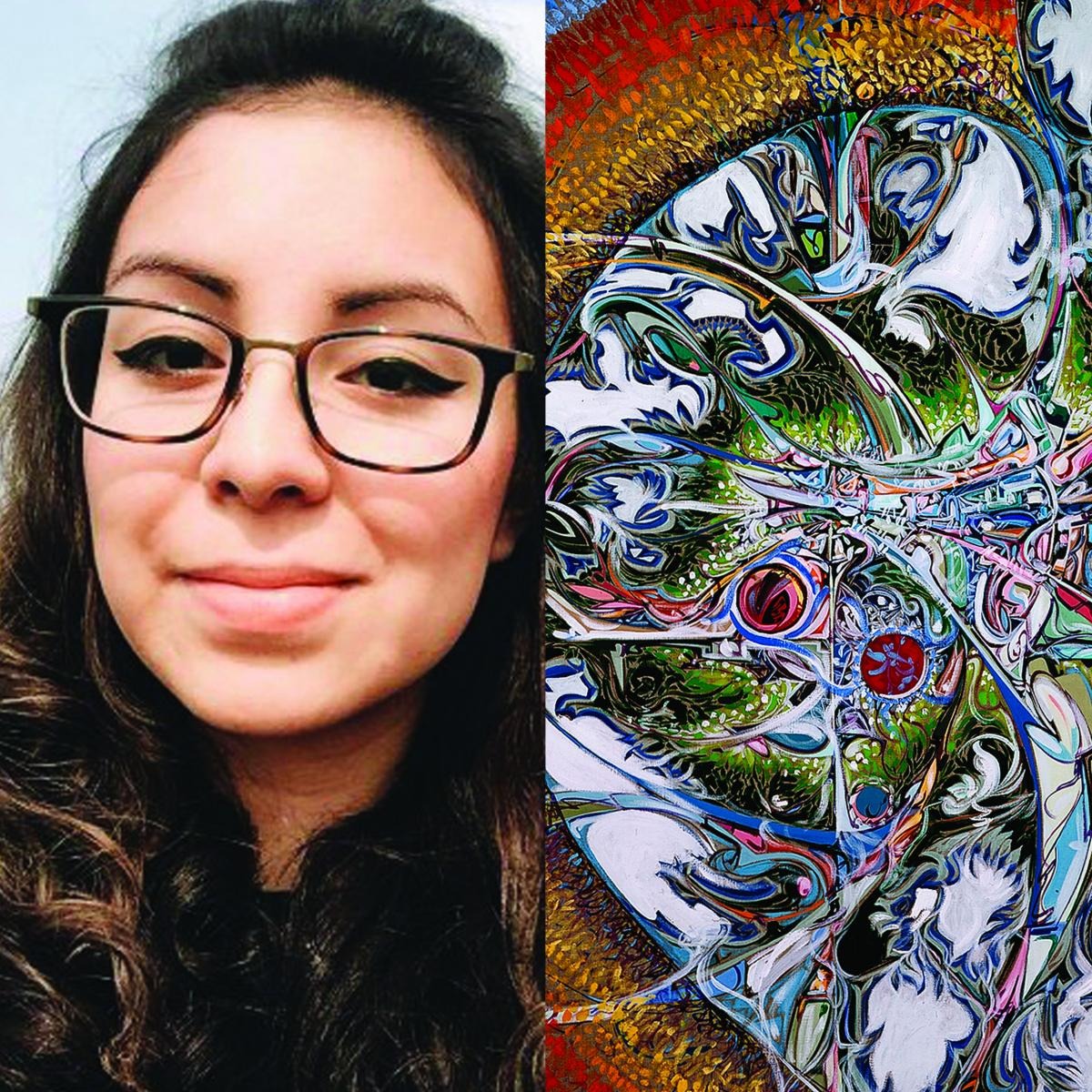 Lauren Crazybull with Janvier artwork