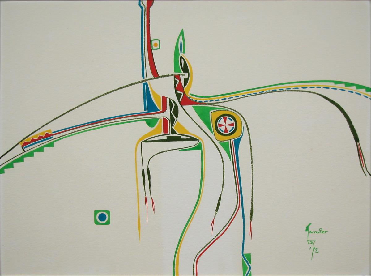 "Alex Janvier artwork ""Ceremony"""