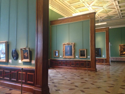 View of the Rembrandt galleries, State Hermitage Museum, St. Petersburg, Russia.