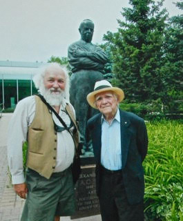 With Leo Mole (and AY Jackson, our mutual friend)), Winnipeg, 2008