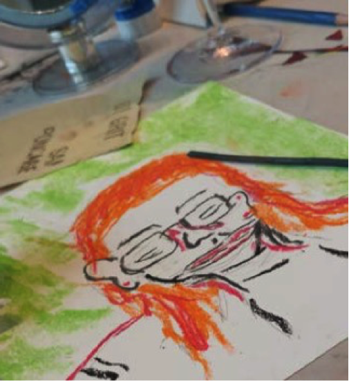 portrait art activity at Vibe