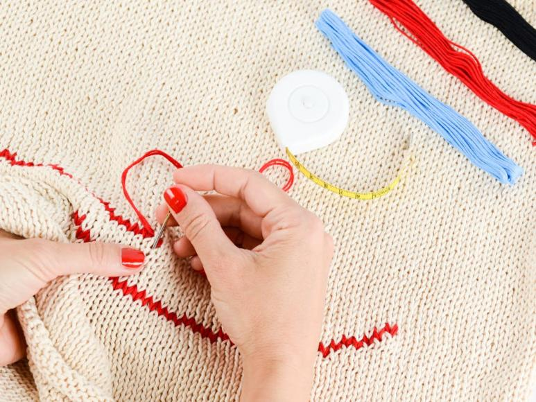 Stock image of stitching