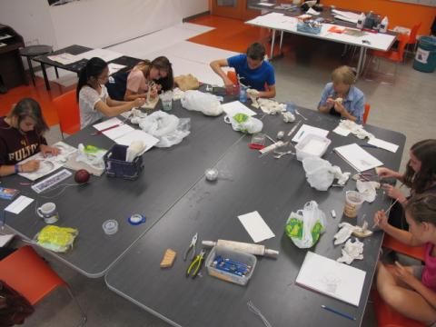 Photo of kids at art camp