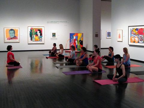 Yoga in the Gallery: Tuesday Evening Session