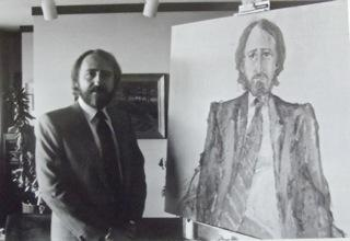 Painting Perter Pocklington in Edmonton, 1981